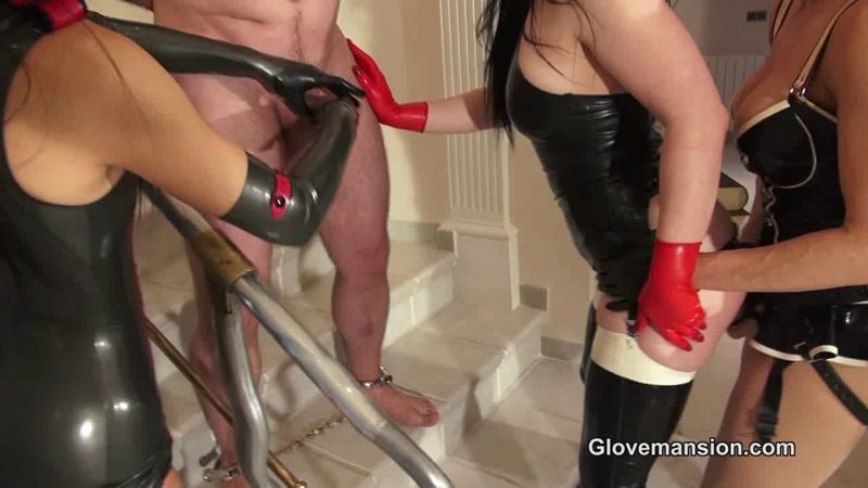 Glove Mansion – Kinky triple latex handjob part 2. Starring Lucia Love, Miss Miranda and Fetish Liza  [Lucia Love, Miss Miranda, Glovemansion]