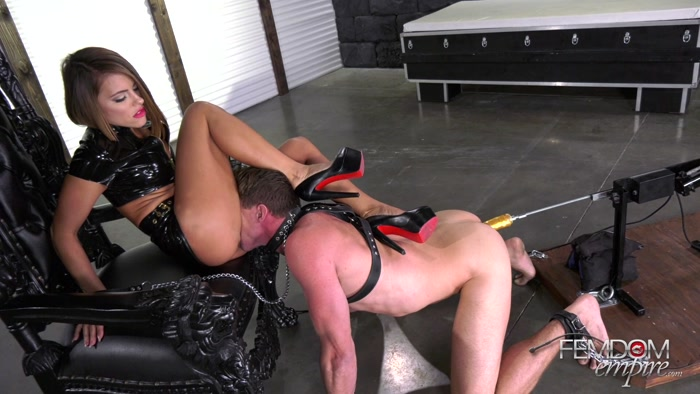 Watch or Download - Femdom Empire - Adriana Chechik - Oral Fuck Slave - butt drops, woman beating man - Release [03-05-2018]