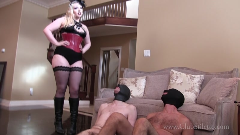 Club Stiletto FemDom – May The Best Bitch Win. Starring Domina Ruby  [Ass Smother, BBW, ass worship]