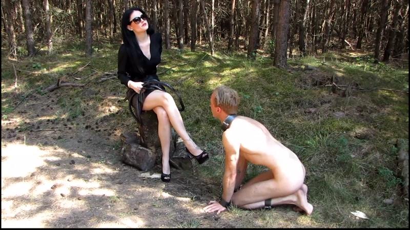 Mistress Blackdiamoond – Shopping on the slave market  [FEMDOM, outdoors, sexy mistress]