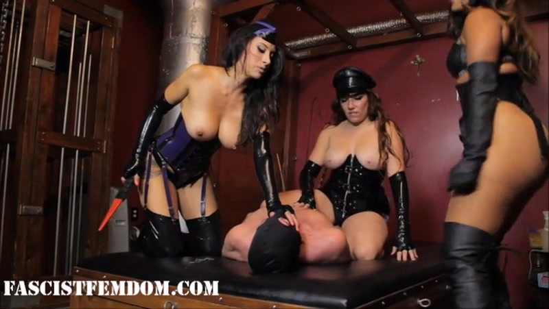 Fascist FemDom – Smothered Until You Talk Pt. 2: The Big. Starring Elena De Luca, Mistress Tangent and Bossy Delilah  [Leather, INTERROGATION, boots]