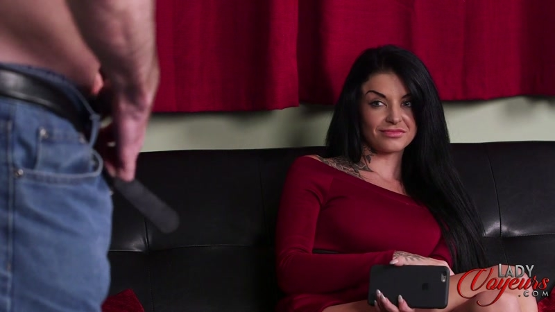Lady Voyeurs – Cum Tribute Mistake. Starring Kayleigh Wanless  [dirty talking, nude male, Sperm]