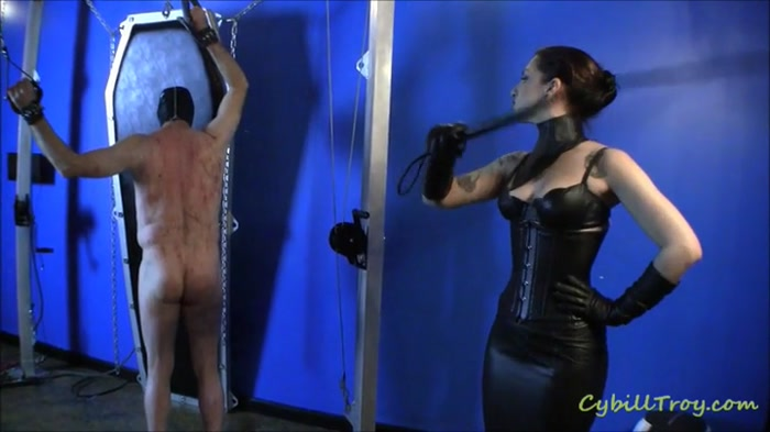 Watch or Download - Cybill Troy - Whipping Blue - training, leather gloves, single tail - Release [20-06-2016]