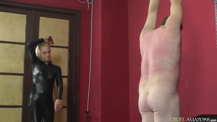 Watch or Download - CRUEL MISTRESSES - Lady Ann - Whipping in catsuit - women spanking men, bare bottom - Release [15-08-2016]