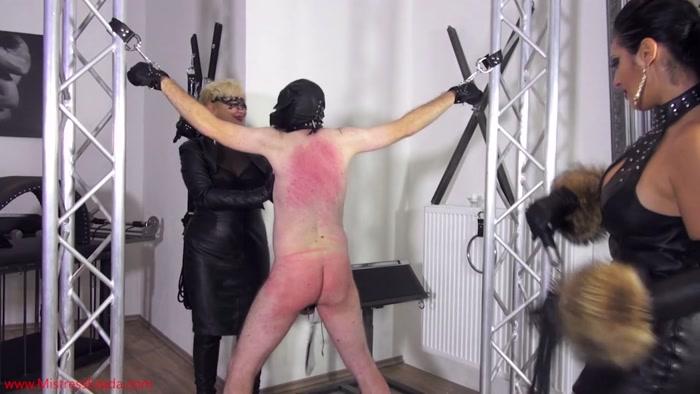 Watch or Download – Mistress Ezada Sinn – Goddess Ezada Sinn, Mademoiselle de S. – Whipping the wimpy puppy – bare bottom spanking, slave torture – Release [19-09-2016]