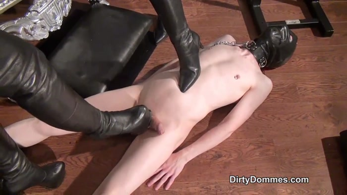 Watch or Download – Dirty Dommes – Rebekka Raynor and Fetish Liza – Milked Boot Whore. – High Heels, boots licking, lea – Release [23-09-2016]