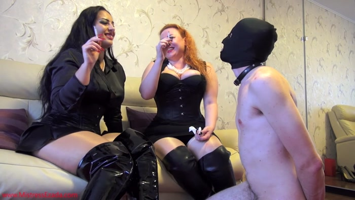 Watch or Download – Mistress Ezada Sinn – Lady Yna – Only human ashtrays in My house – DOUBLE DOMINATION, BOOT DOMINATION, SMOKING – Release [26-09-2016]