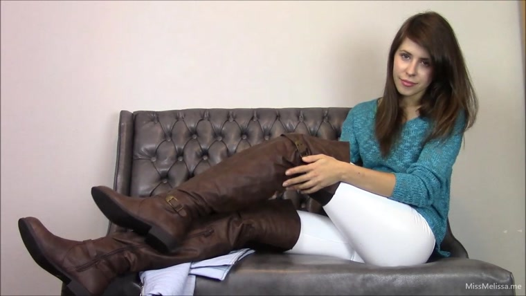 Watch or Download - Miss Melissa - Thigh High Brown Boots - jerkoff encouragement, pov, femdom pov - Release [06-12-2016]