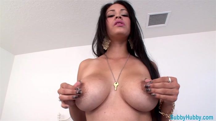 Watch or Download - Subby Hubby - Jamie Valentine - Jerk To My Tits - instruction, Goddess Worship, Tease and - Release [25-02-2017]