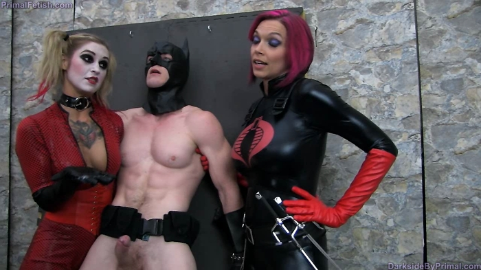 Watch or Download - Primal's Darkside Superheroine - Kleo Valentien, Anna Bell Peaks - Batman Milked and Executed - handjob, femdom handjob, tied handjob - Release [28-02-2017]