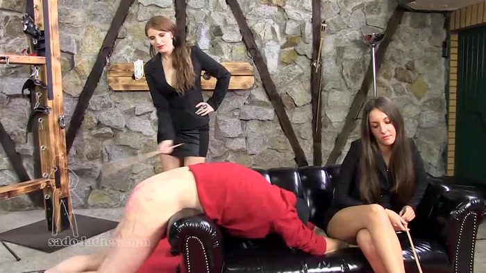 Watch or Download - Sado Ladies - Chloe, Sarah - The Password 2 (Caning Interrogation) - cruel, corporal punishment, femdom spanking - Release [04-03-2017]