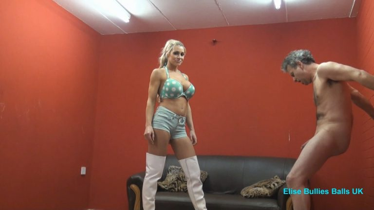 Watch or Download - Elise Bullies Balls UK - I am going to put you in hospital - ball abuse, ballbusting, cbt, humiliation - Release [18-03-2017]