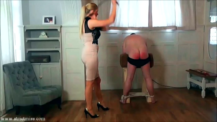 Watch or Download - Strictmiss - Caning - men, bare bottom spanking, slave - Release [11-05-2017]