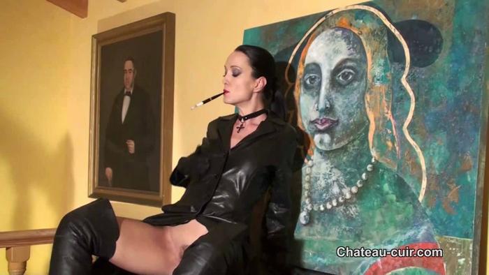 Watch or Download - Chateau-Cuir - Vintage smoking leather sex Part 1 - Chateau-Cuir, handjob, femdom handjob - Release [08-01-2018]
