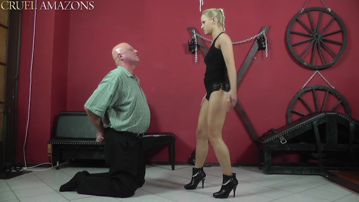 Watch or Download - CRUELAMAZONS - Lady Ann - Shoes kissing with face slaps - CRUELAMAZONS, Lady Ann, FEMALE DOMINATION - Release [12-04-2016]