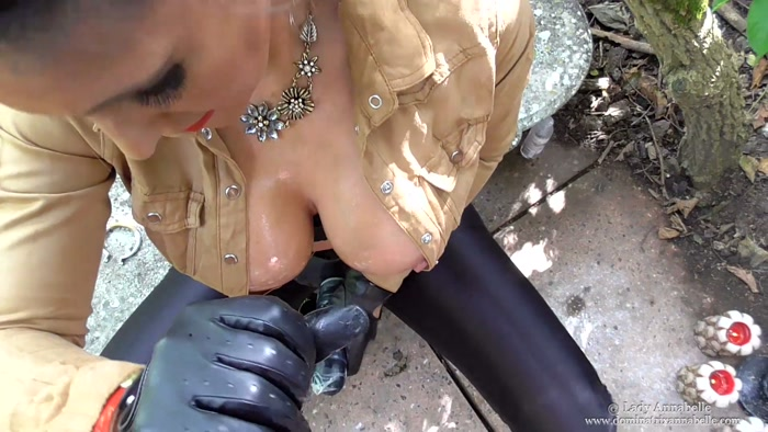 Watch or Download - DominatrixAnnabelle - Lady Annabelle - Cum Dine on Me, Alfresco Style!! - tied handjob, hand domination, handjob - Release [16-04-2016]