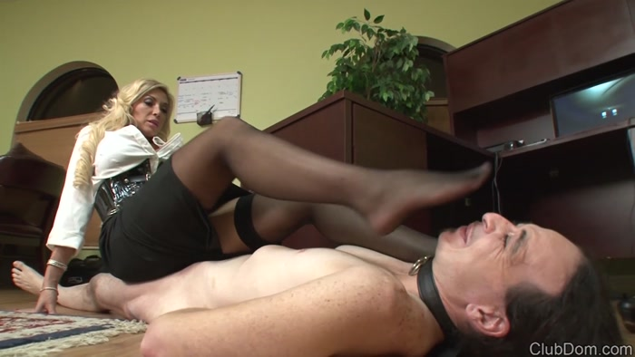 Watch or Download - ClubDom - Nylons, Blond Hair - Stocking Face Slapping - facepunching, facebusting, hard faceslap, cruel - Release [09-07-2018]