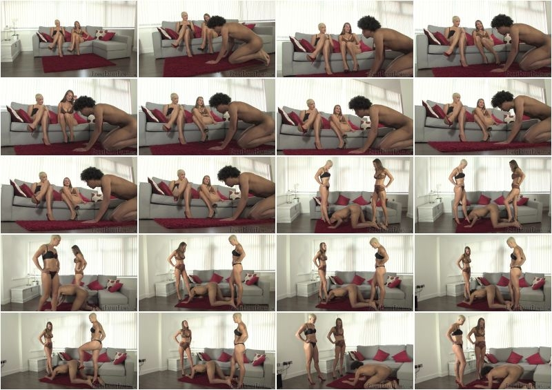 FemmeFataleFilms – Dropping The Ball – Part 1. Starring Cate Fury and The Hunteress  [Ball Busting, ball slapping, The Hunteress]