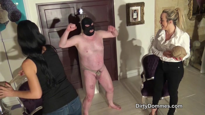 Watch or Download - Dirty Dommes - Mistress Tess - Ballbusting beatdown - Dirty Dommes, Mistress Tess, CBT - Release [24-10-2018]
