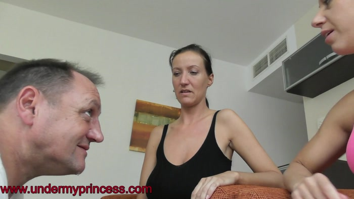 Watch or Download - Under my princess - Burping and spitting with Christina - fetish, spitting on slave, spittingbitches - Release [25-12-2018]