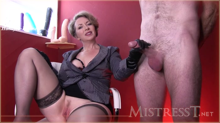 Watch or Download - Mistress T - Sex Slave To Serve Male - tied handjob, hand domination, handjob - Release [25-12-2018]