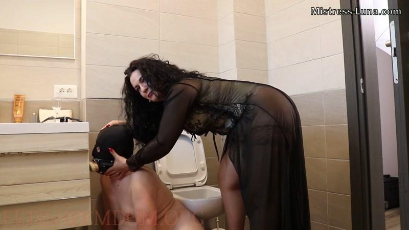 Mistress Luna – Toilet slave  [Degradation, gag, Femdom 2018]
