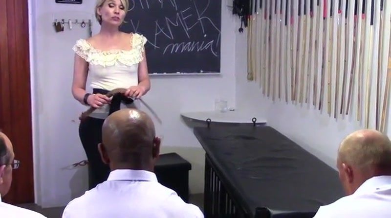 Strafkamer – MISTRESS BATON StrapMania Part 2 featuring two Canadian Prison Straps  [role play, Strafkamer, mistress]