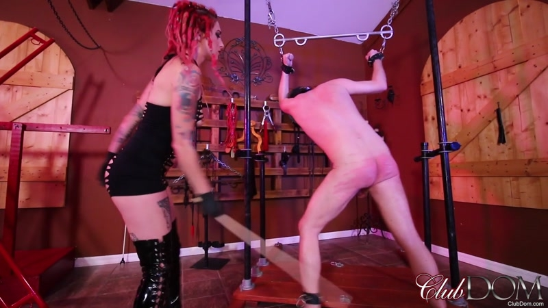 ClubDom – Sully Savage Caning. Starring Sully Savage  [rubber, Free, sully savage]