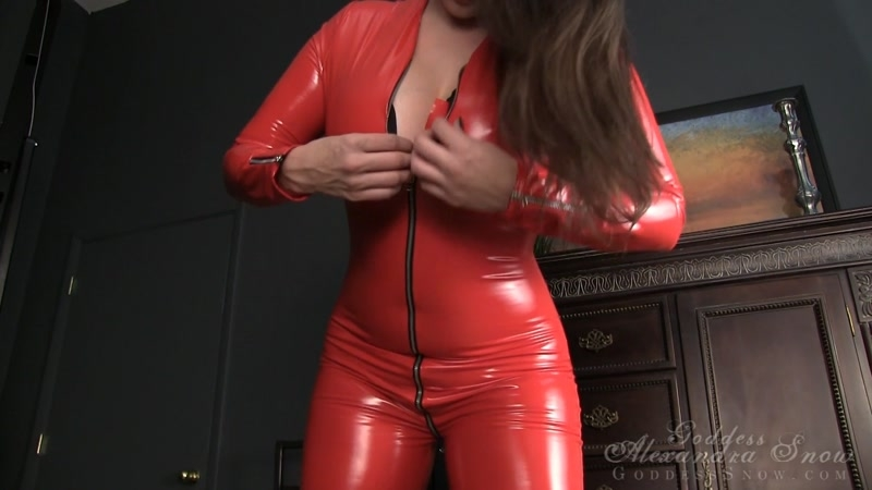 Goddess Alexandra Snow – Earn Your Cum Slave Assignment  [MASTURBATION INSTRUCTION, catsuits, Submissive Slave Training]