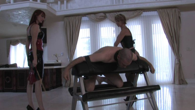 Cruel Unusual FemDom – Grateful for Her Cane. Starring Kendra and Brianna  [foot jobs, Kendra, Anal]