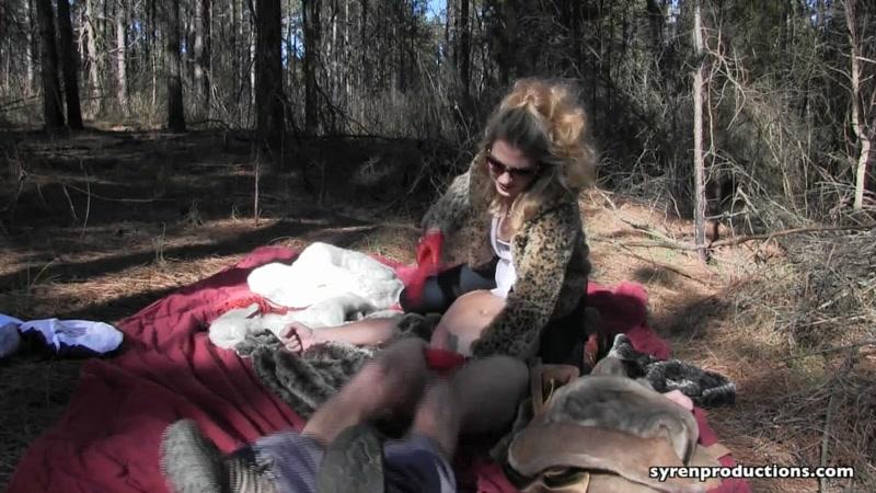 Mistress Aleana's Queendom – CBT Fur Picnic  [LEATHER FETISH, boot fetish, smothering]