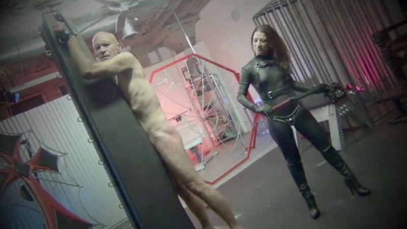 DomNation – BOUND TO BE PAINFUL. Starring Mistress Bella Blackheart  [leather whip, whipping, suffering]
