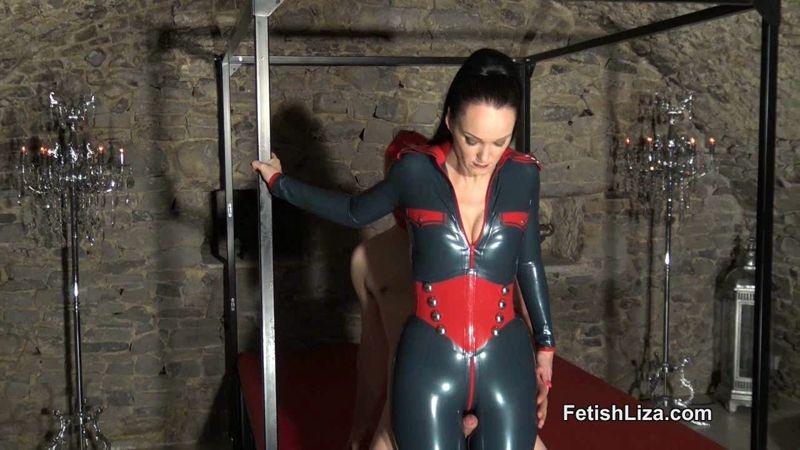Fetish Liza Clips – Latex Catsuit Thighjob  [latex, RUBBER FETISH, handjob]