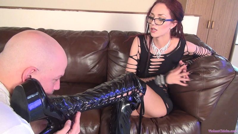 HD FEMDOM SUPERSTORE – Boot domination by tall and beautiful Mistress Sablique 4  [FEMDOM, HUMILIATION, foot worship]