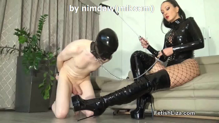 Watch or Download - Fetish Liza - Patent overknee bootjob Part 1 - Foot Fetish, FOOT HUMILIATION, FOOT - Release [26-01-2019]