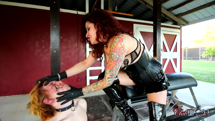 Watch or Download - ClubDom - Mistress Ginary - Human Ashtray (1080 HD) - ClubDom, Mistress Ginary, spitting, spit - Release [31-01-2019]