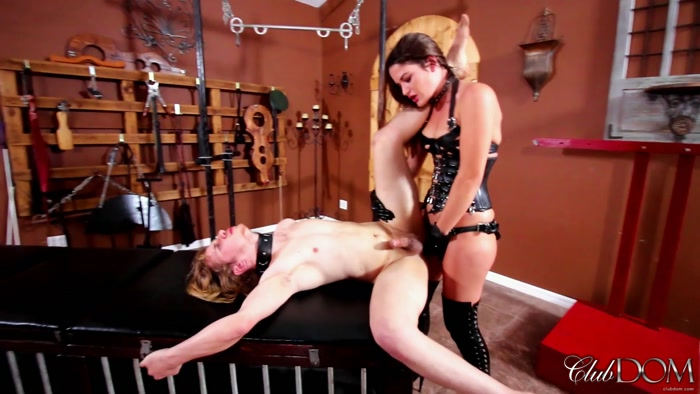 ClubDom - Kendra Heart - Plow The Man Pussy (1080 HD) - fuck, strapon in mouth, ass