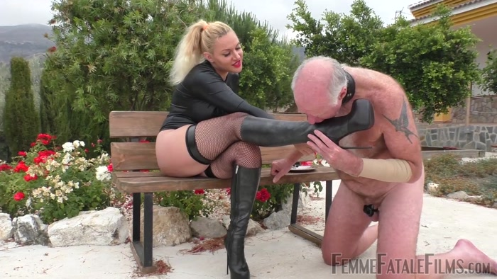 Femme Fatale Films - Mistress Fox - Stiletto Boot Prints  Super HD  Part 1-3 - knee boots, nipple torment, trampling