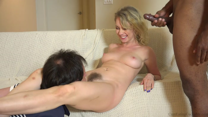 Cumeating Cuckolds - On Your Knees - eating, wife, cum clean up
