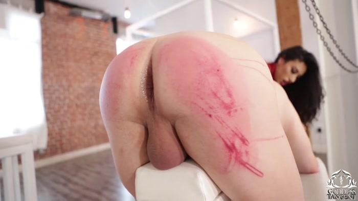 Goddess Tangent - A Painful Lesson Part 1 - women spanking men, bare bottom