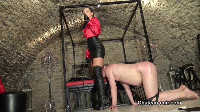 Chateau-Cuir - Fetish Liza - The price of leather worship Part 2 - feminine discipline, women spanking men