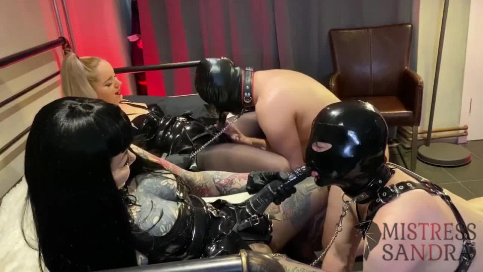 Clips4sale: Mistress Sandra - Latex Pegging With Aroma - Double Domination